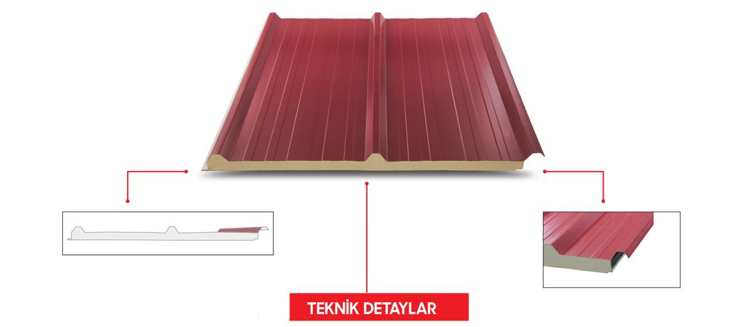 Seday Yalıtım 3 Hadveli Çatı Panelleri