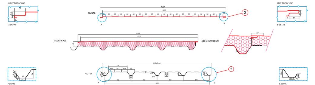 Seday Yalıtım 5 Hadveli Çatı Panelleri